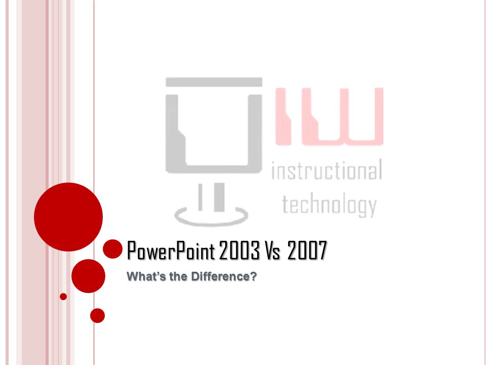 PowerPoint 2003 Vs 2007 What's the Difference