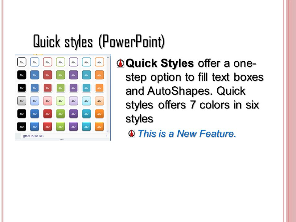 Quick styles (PowerPoint)