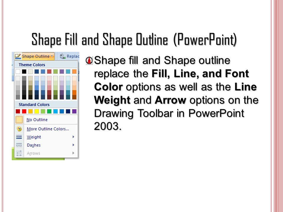 Shape Fill and Shape Outline (PowerPoint)