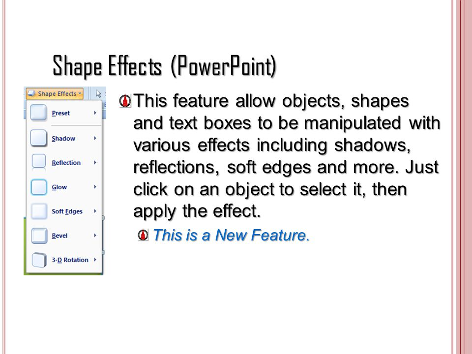 Shape Effects (PowerPoint)