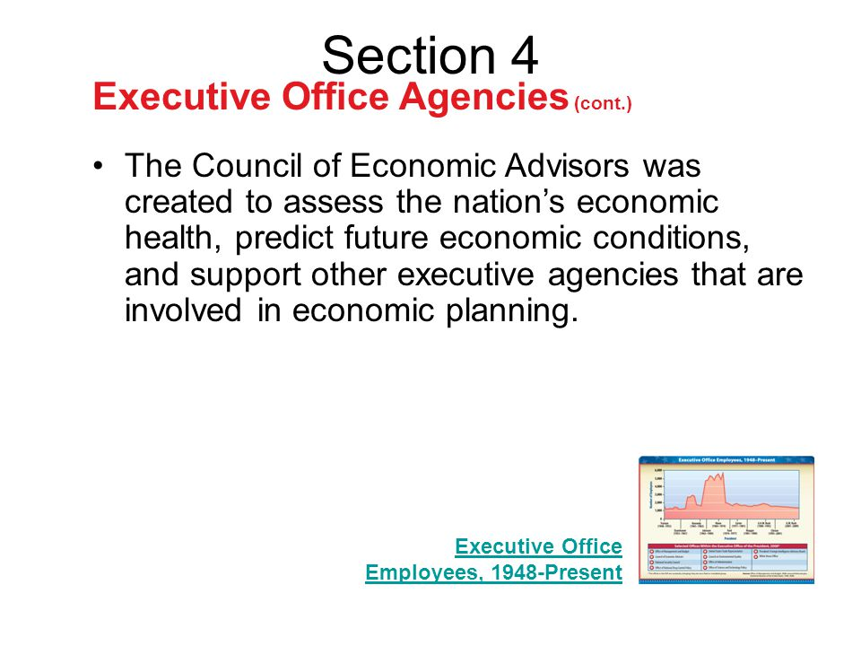 Section 4 Executive Office Agencies (cont.)