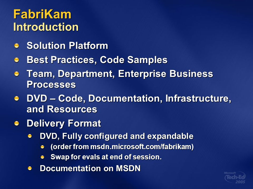 FabriKam Introduction