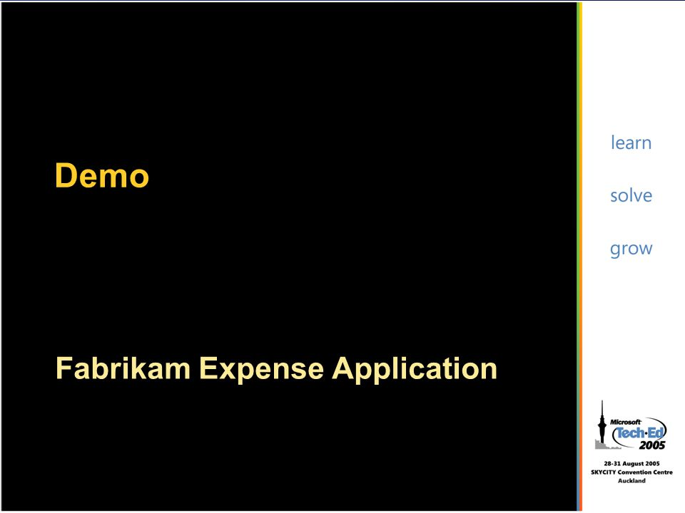 Fabrikam Expense Application