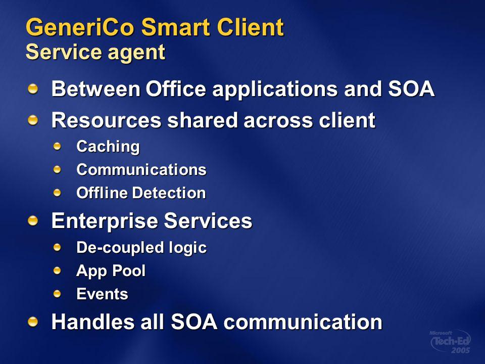 GeneriCo Smart Client Service agent