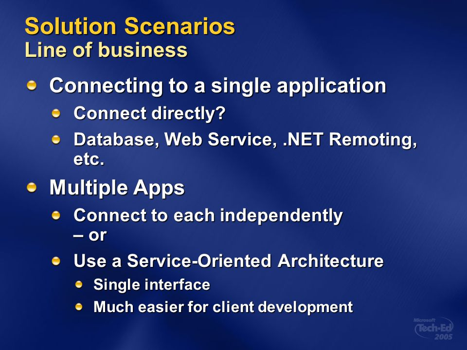 Solution Scenarios Line of business