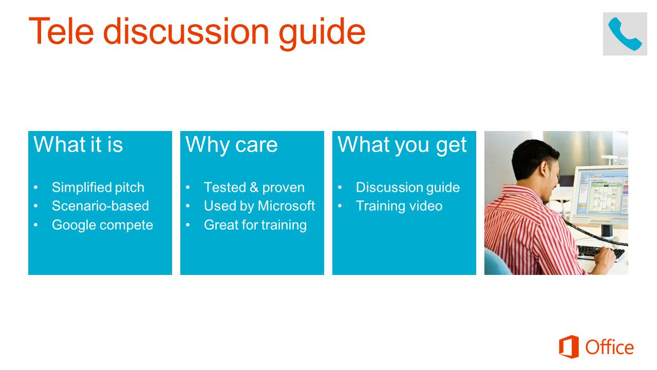 Tele discussion guide What it is Why care What you get