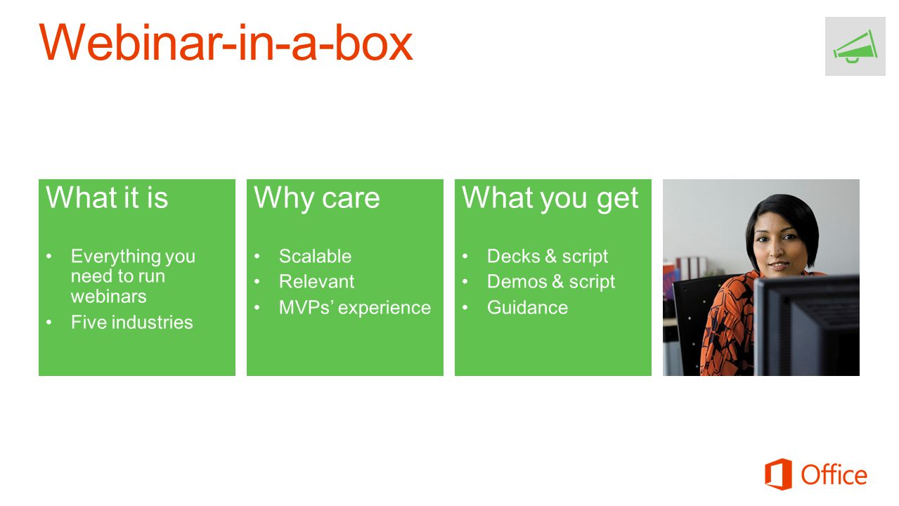 Webinar-in-a-box What it is Why care What you get