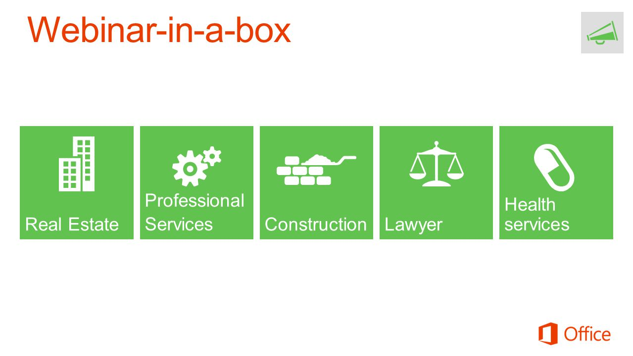 Webinar-in-a-box Real Estate Professional Services Construction Lawyer