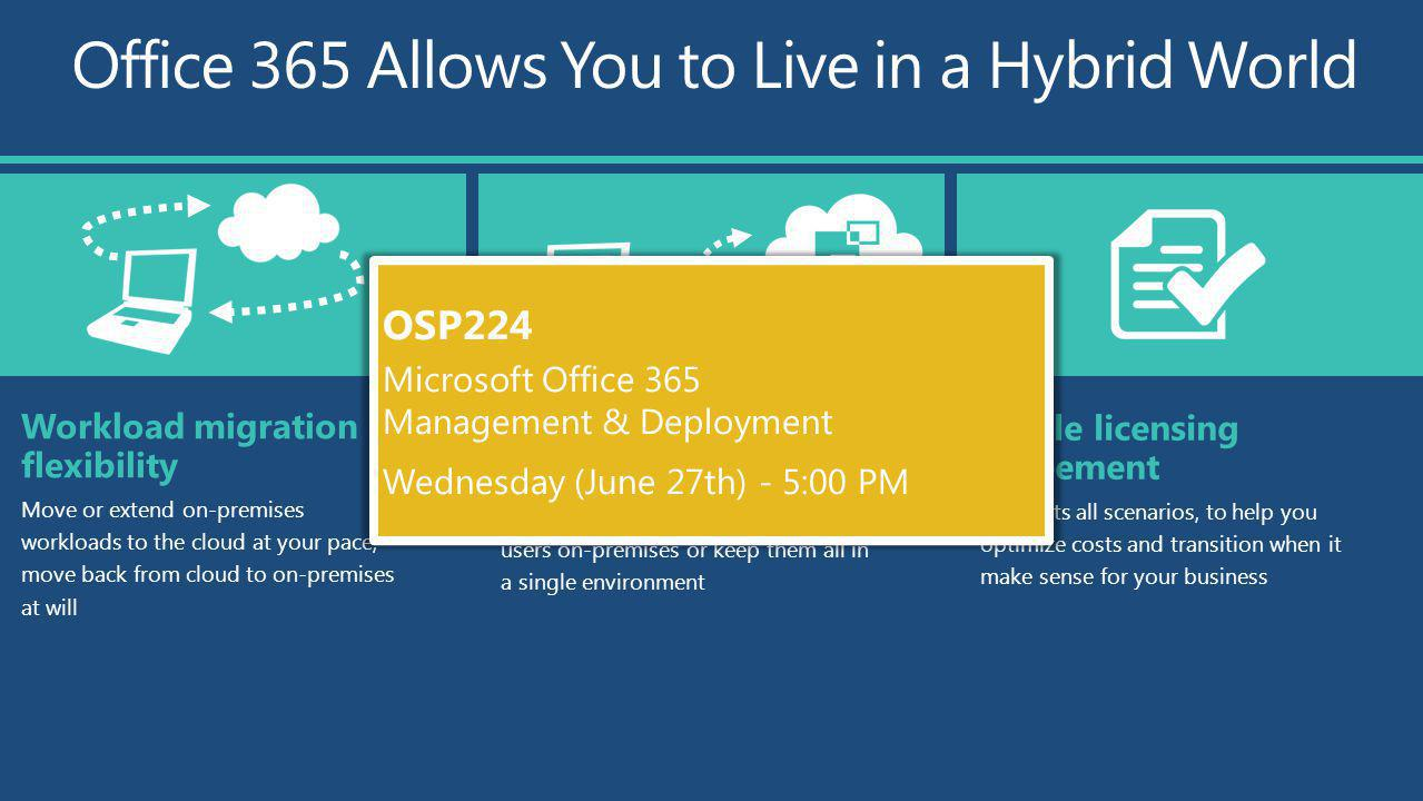 Office 365 Allows You to Live in a Hybrid World