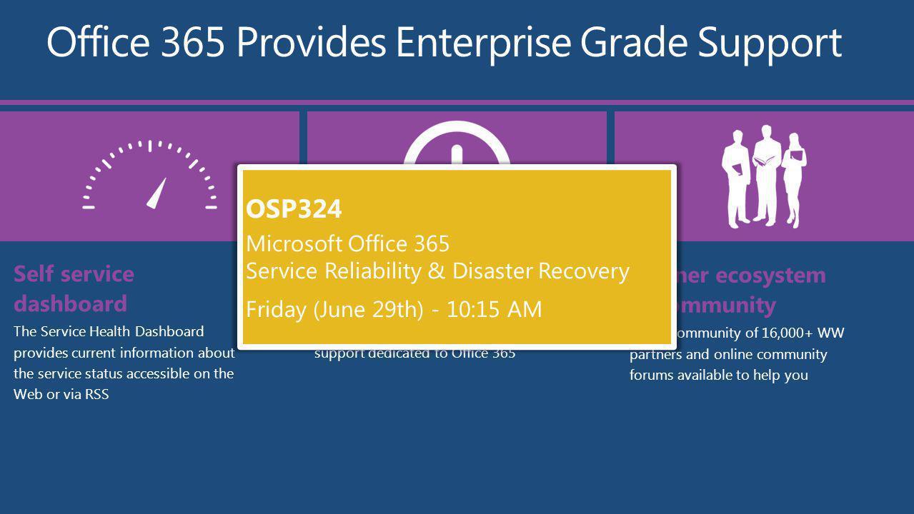 Office 365 Provides Enterprise Grade Support