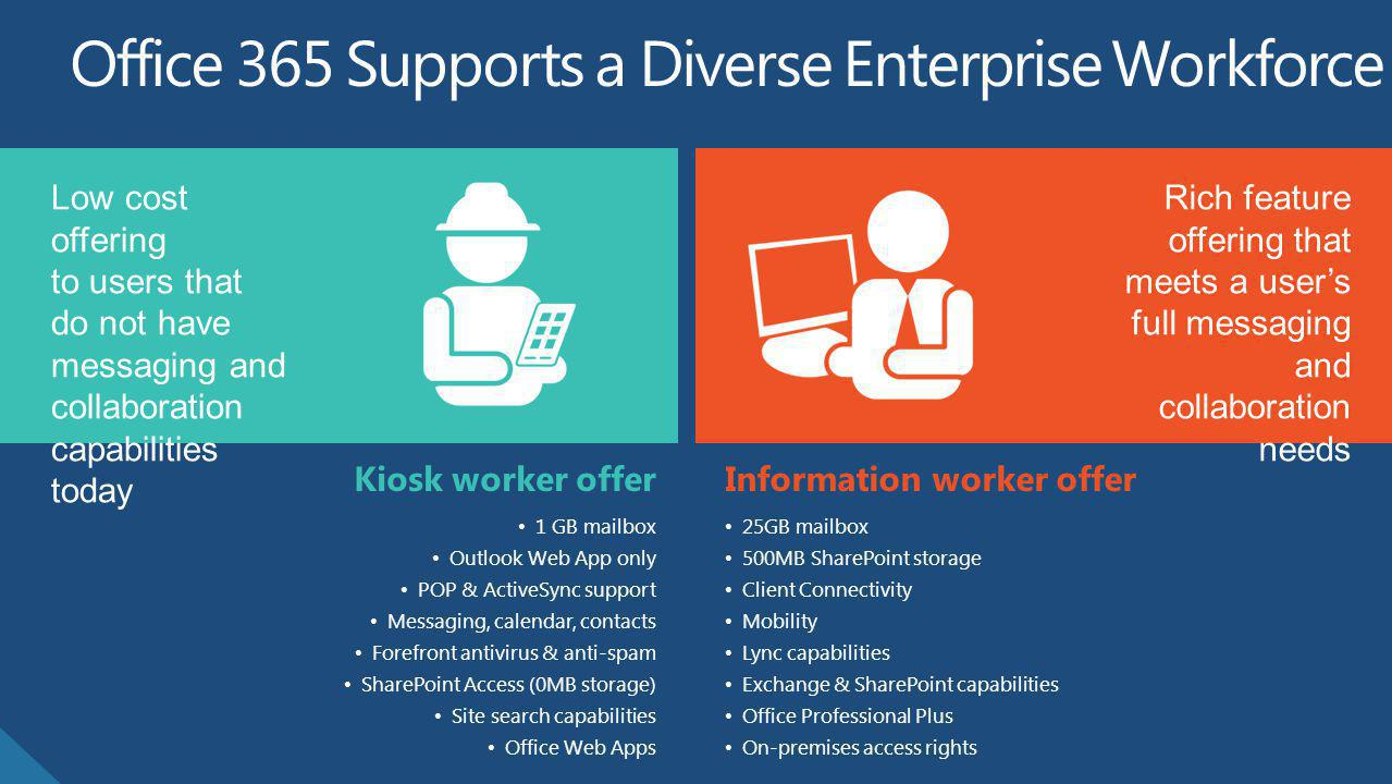 Office 365 Supports a Diverse Enterprise Workforce