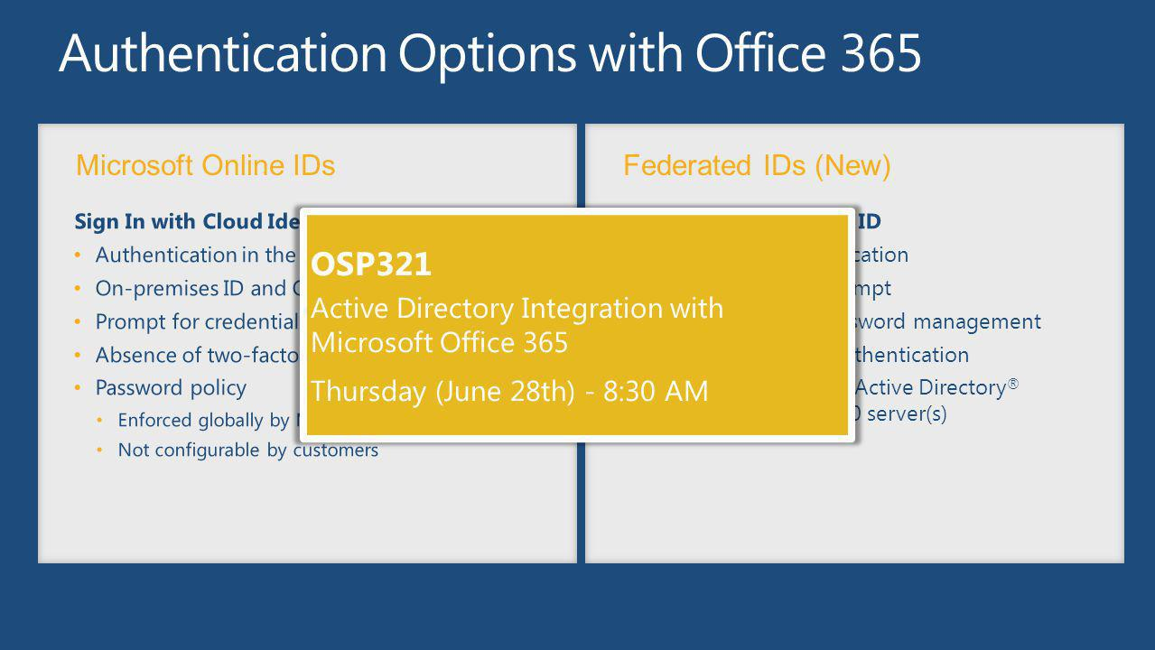 Authentication Options with Office 365