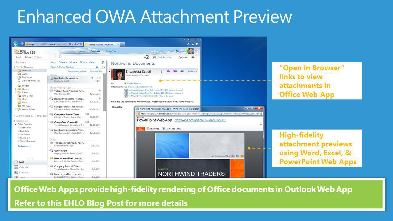 how to see attachements in outlook web based app