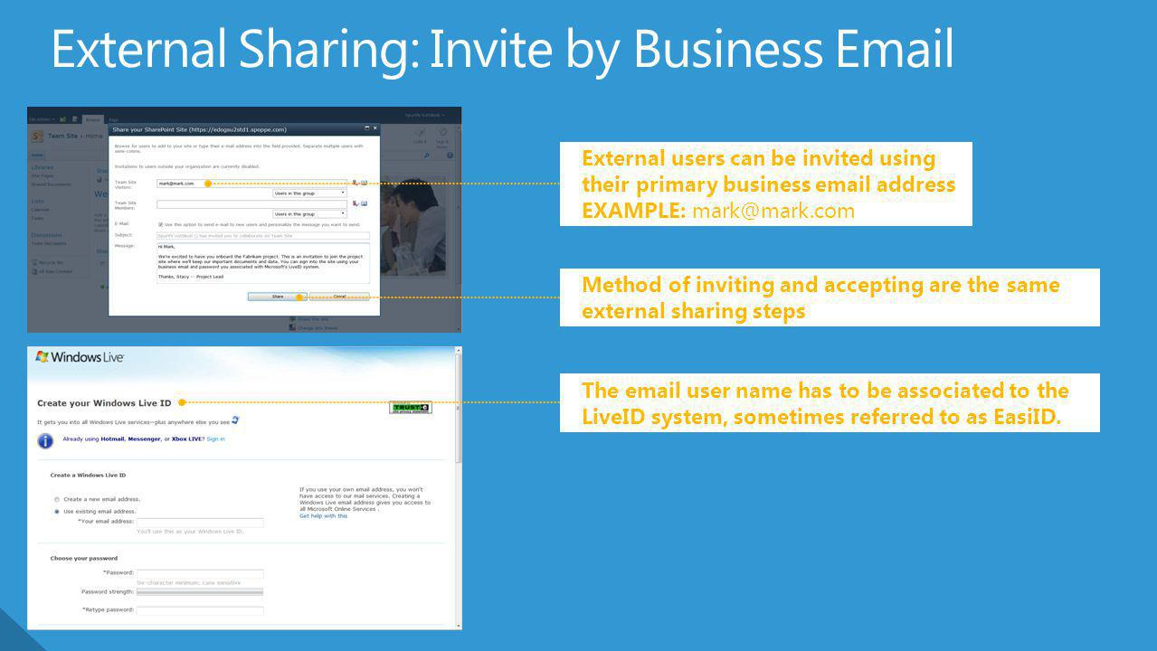 External Sharing: Invite by Business Email