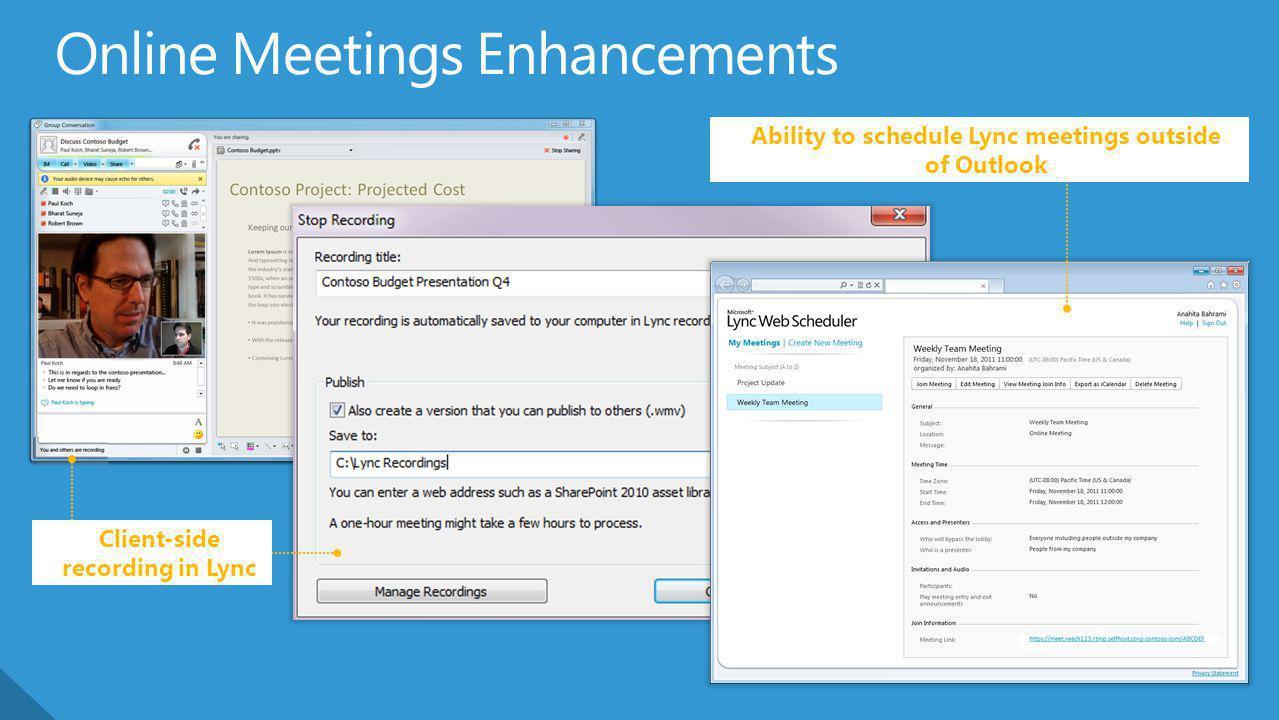 Online Meetings Enhancements