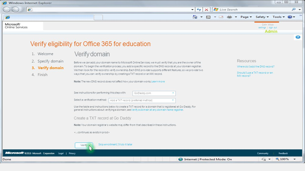 Verify eligibility for Office 365 for education
