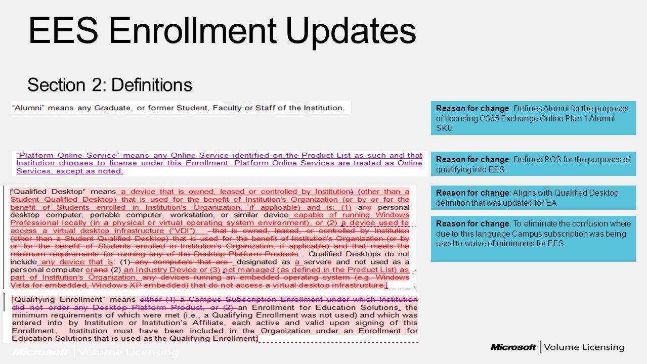 EES Enrollment Updates