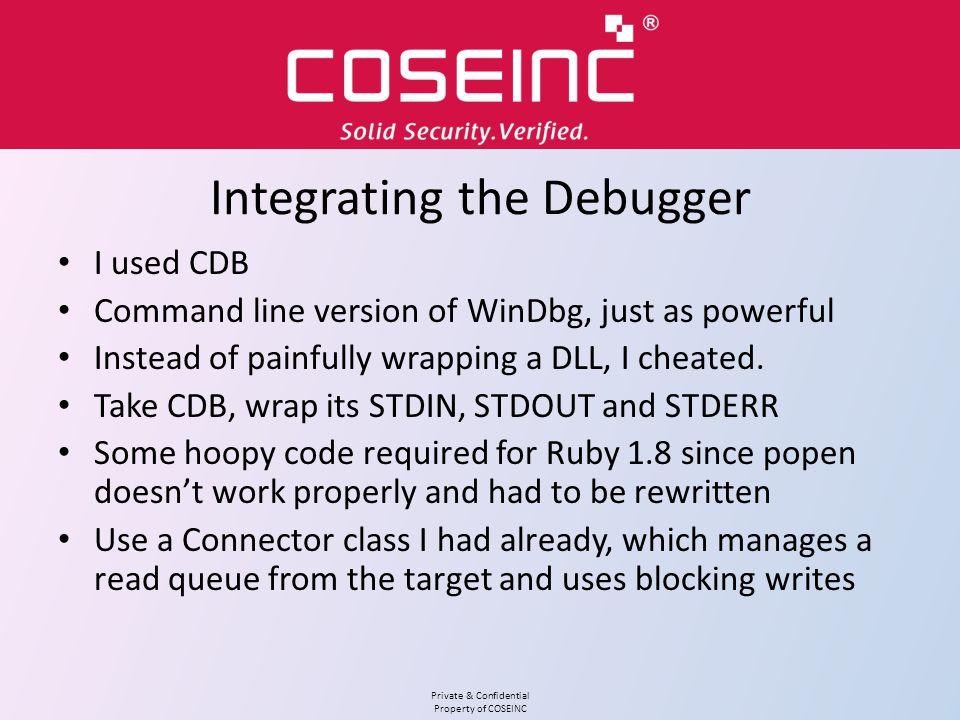 Integrating the Debugger