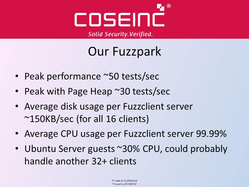 Our Fuzzpark Peak performance ~50 tests/sec