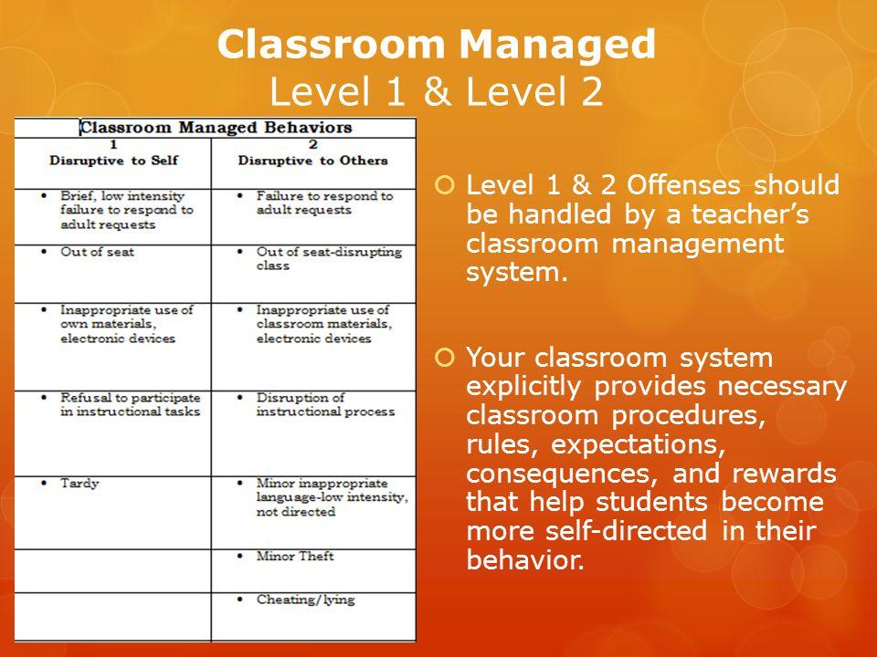 Classroom Managed Level 1 & Level 2
