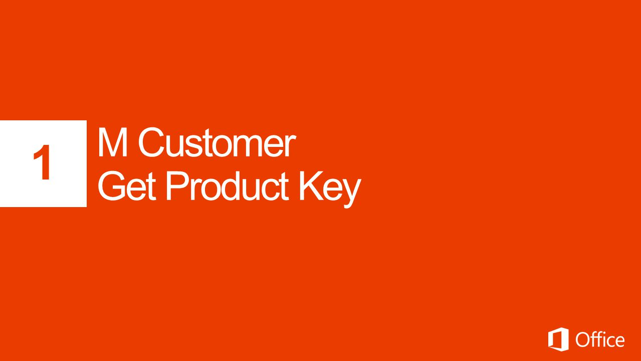 M Customer Get Product Key