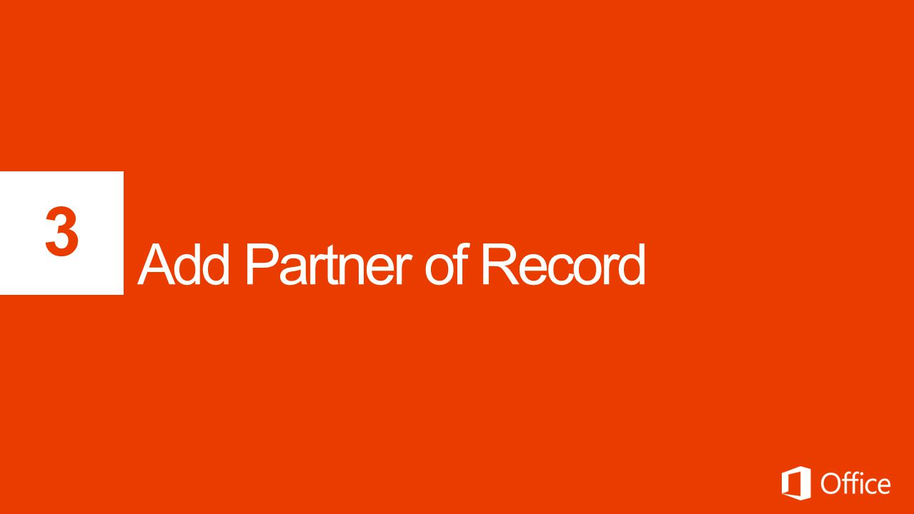 3 Add Partner of Record
