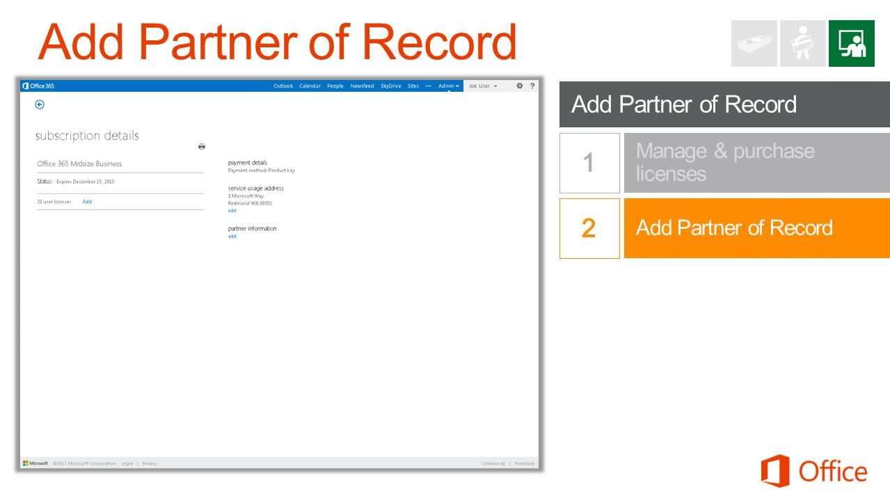 Add Partner of Record 1 1 2 Add Partner of Record