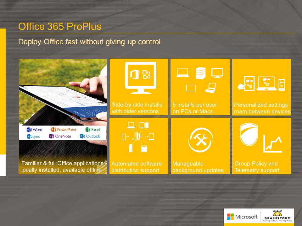 Office 365 ProPlus Deploy Office fast without giving up control