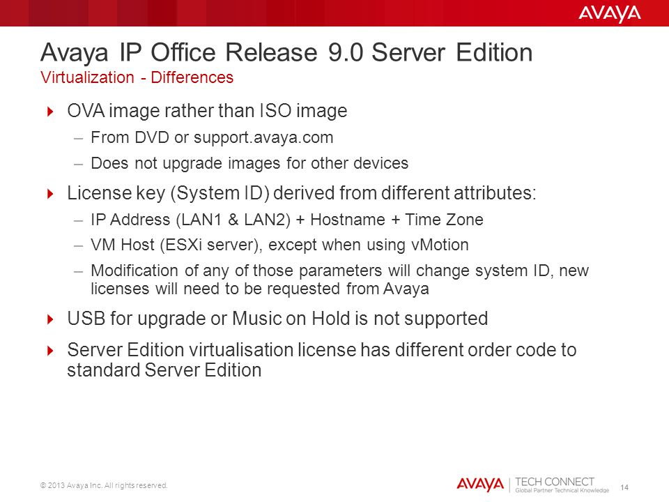 Avaya IP Office Release 9.0 Server Edition