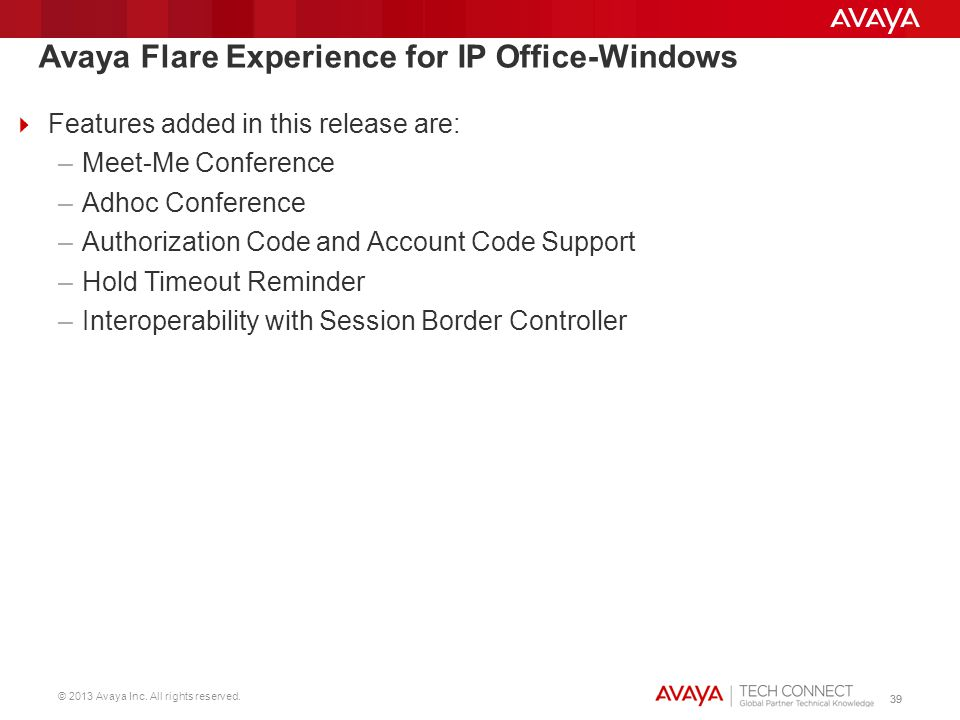 Avaya Flare Experience for IP Office-Windows