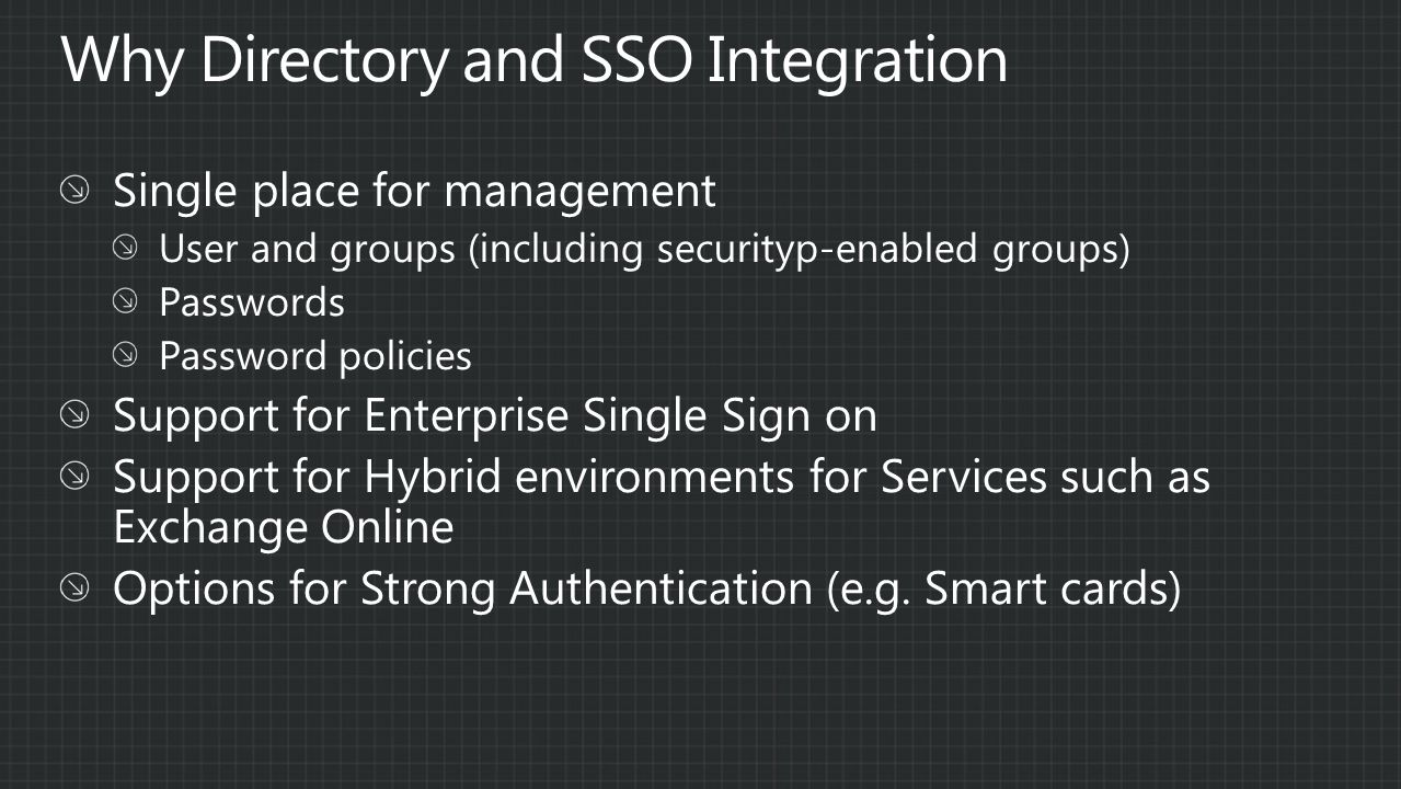 Why Directory and SSO Integration