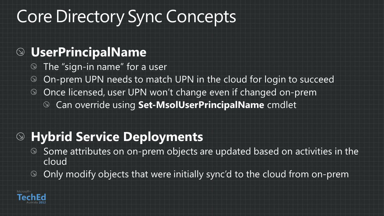 Core Directory Sync Concepts