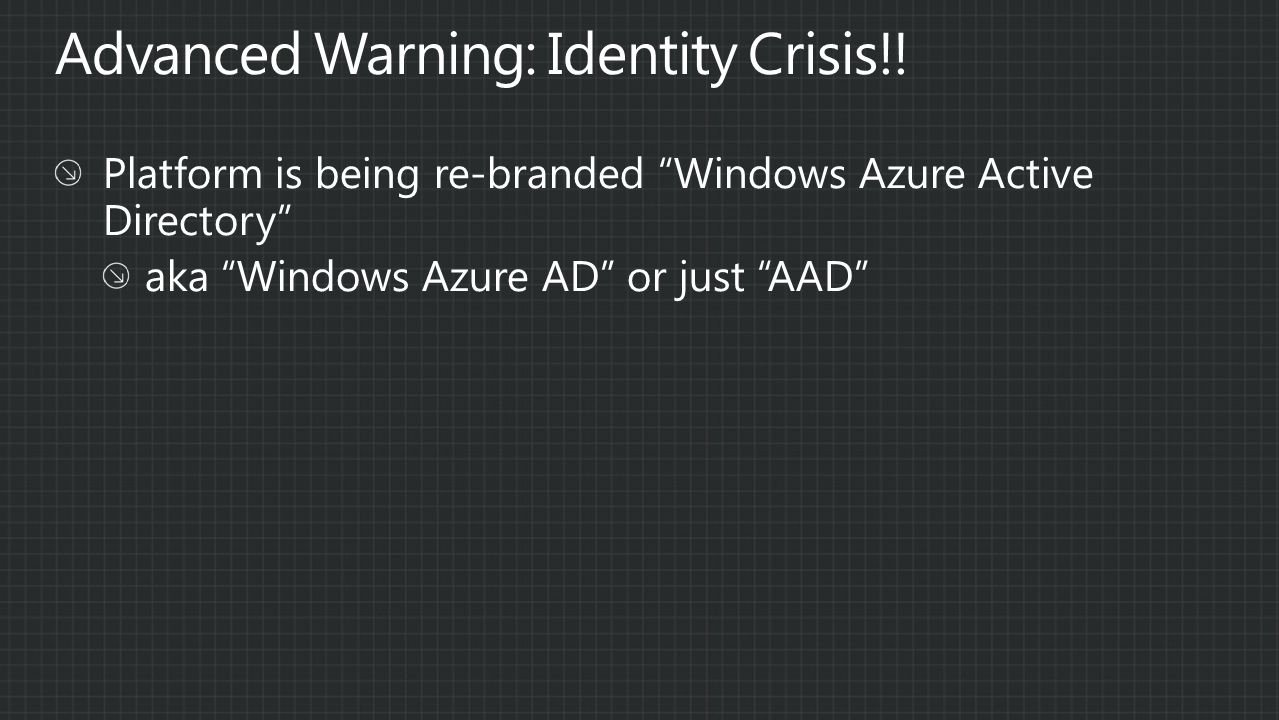 Advanced Warning: Identity Crisis!!