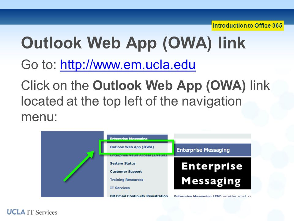 Outlook Web App (OWA) link