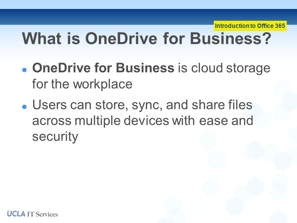 What is OneDrive for Business