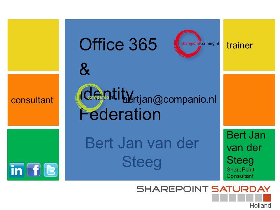Bert Jan van der Steeg SharePoint Consultant