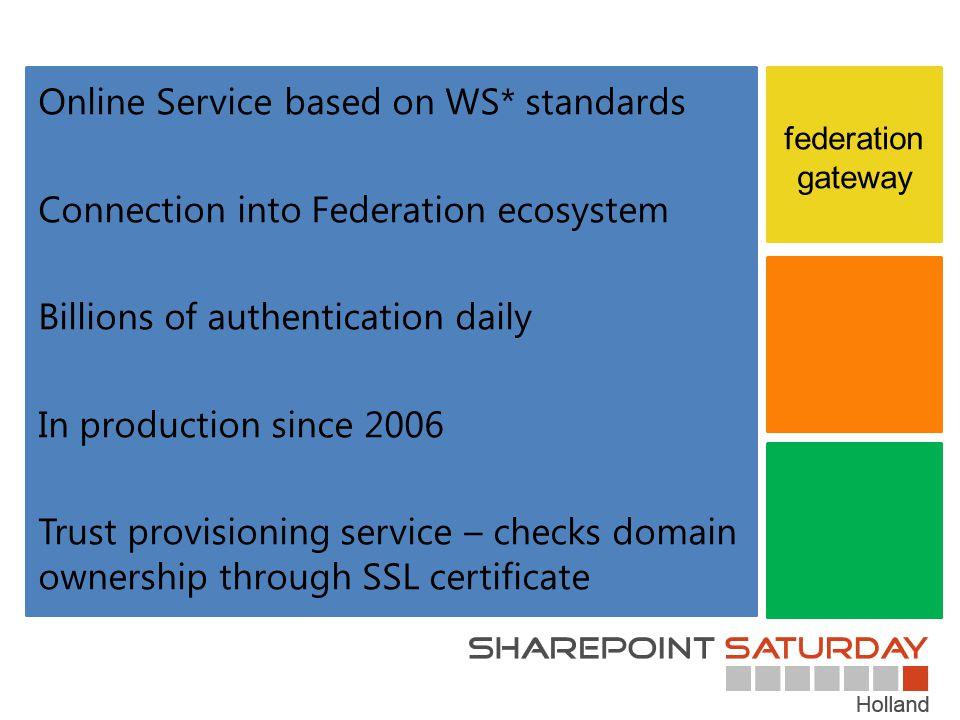 Online Service based on WS* standards