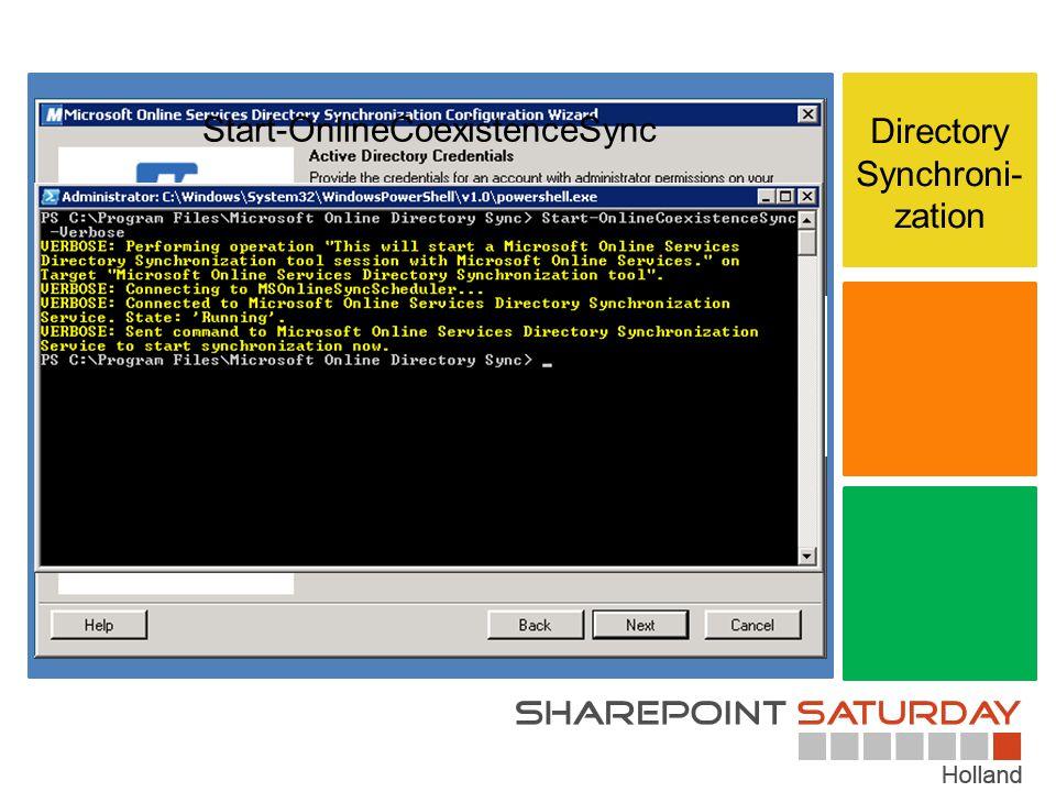 Start-OnlineCoexistenceSync Directory Synchroni-zation