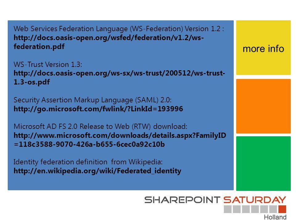 Web Services Federation Language (WS-Federation) Version 1