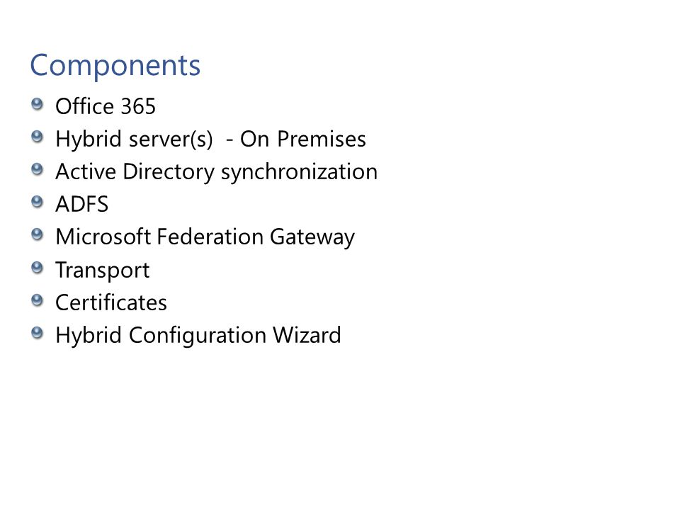 Office 365 and Hybrid server(s) - On Premises