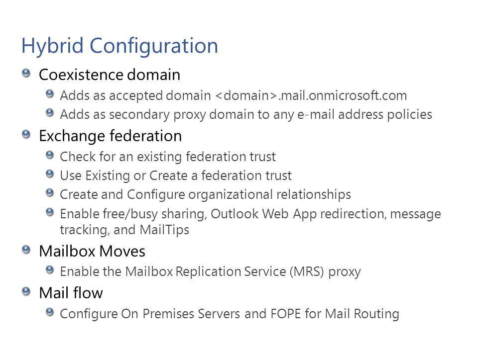 New Hybrid Configuration