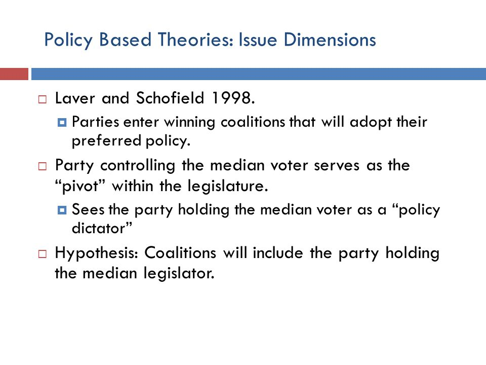 Policy Based Theories: Issue Dimensions