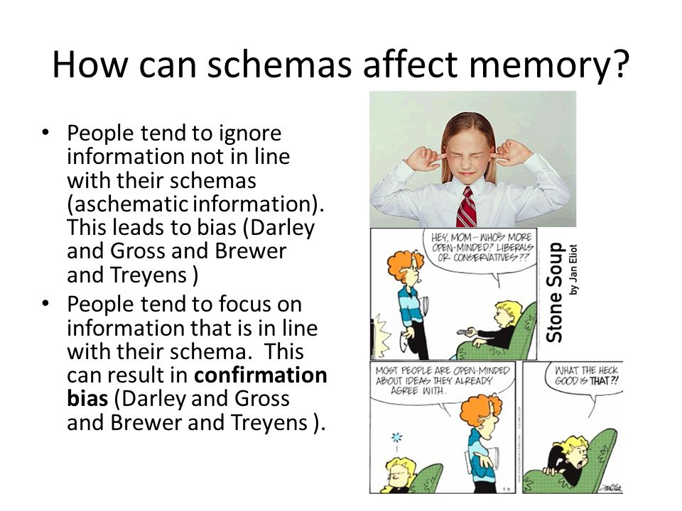 How can schemas affect memory