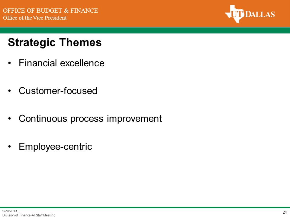 Strategic Themes Financial excellence Customer-focused