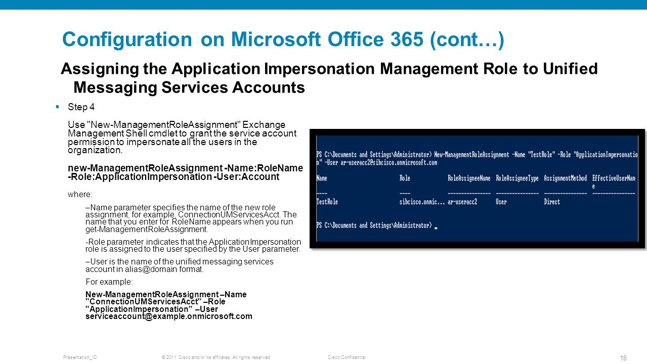 Configuration on Microsoft Office 365 (cont…)
