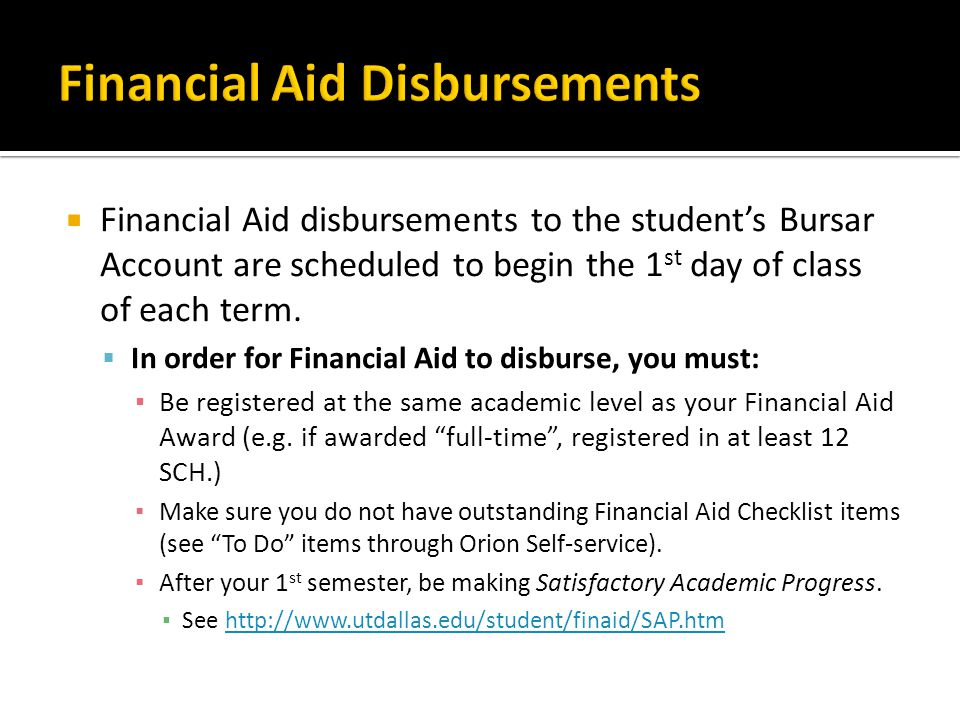 Financial Aid Disbursements