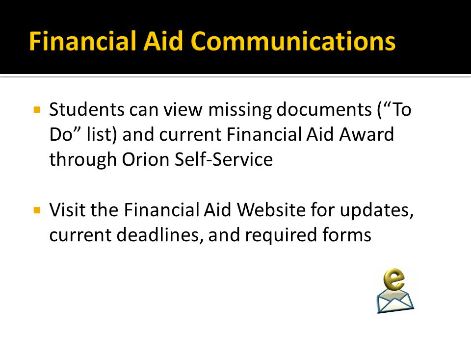 Financial Aid Communications