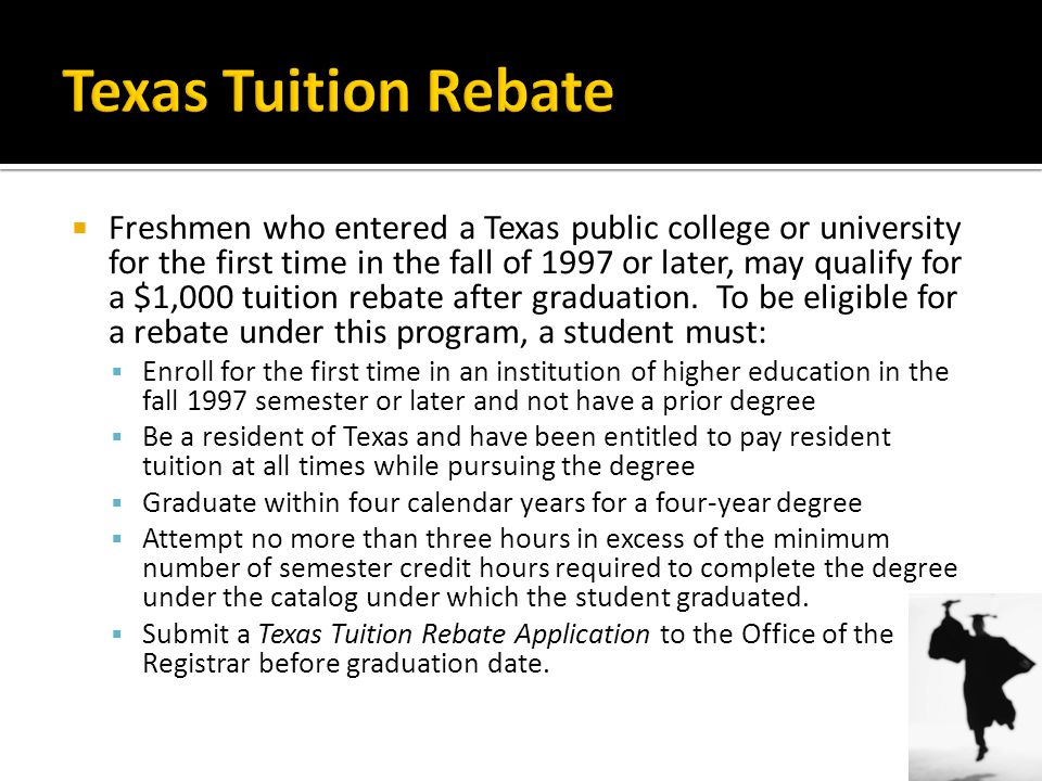 Texas Tuition Rebate