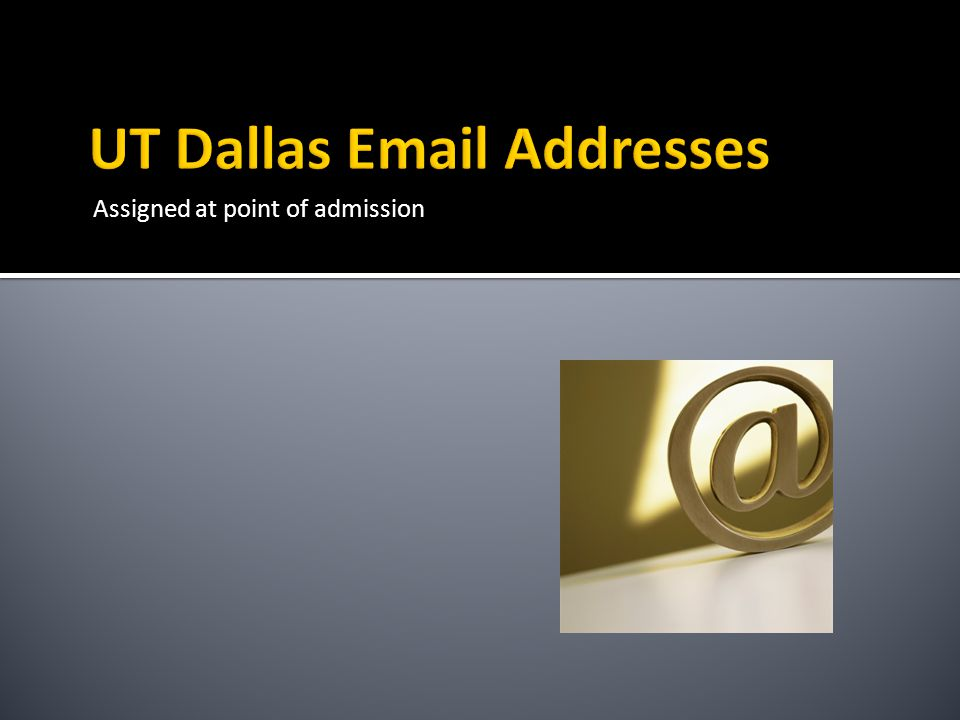 UT Dallas Email Addresses
