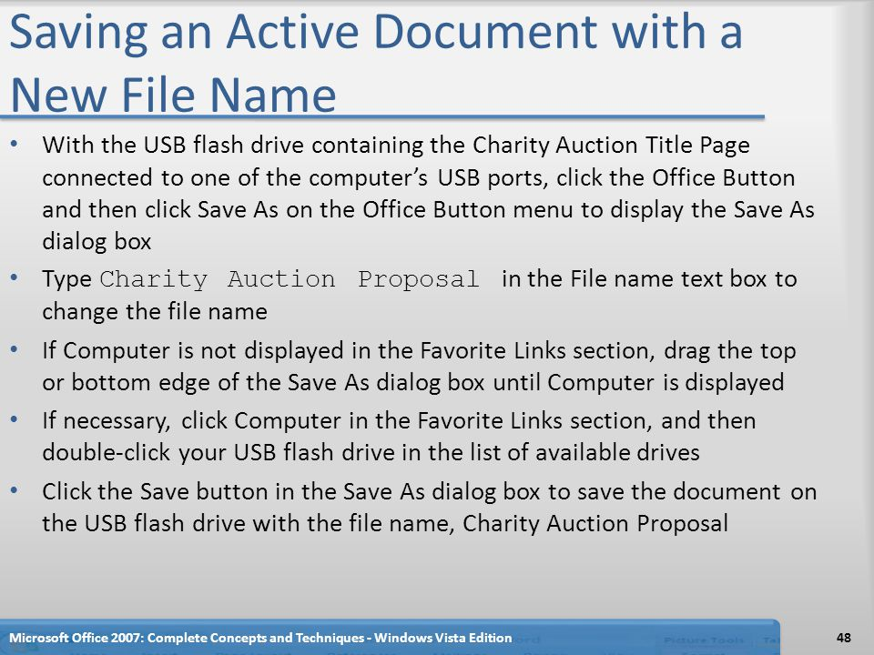 Saving an Active Document with a New File Name